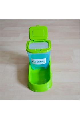 Eurostar Yeşil Saklamalı Mama Kabı 1,4 Kg