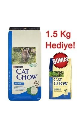 Cat Chow Somonlu Yetişkin Kuru Kedi Maması 15 Kg + 1,5 Kg