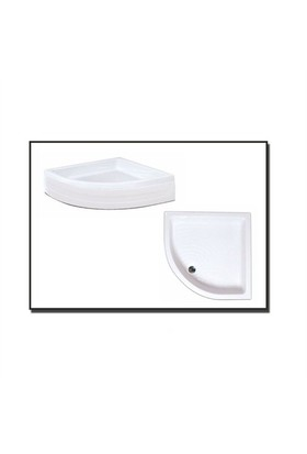 Duşaduş Akr005 Oval Panelli Duş Teknesi 120 Cm X 120 Cm