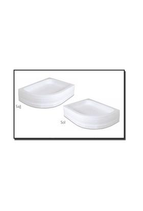 Duşaduş Akr014 Asimetrik Panelli Sağ Duş Teknesi 75 Cm X110 Cm