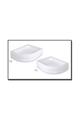 Duşaduş Akr018 Asimetrik Panelli Sağ Duş Teknesi 80 Cm X 100 Cm