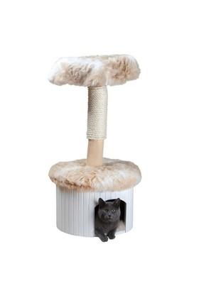 Trixie Kedi Tırmalama Evi 98Cm, Beyaz-Bej