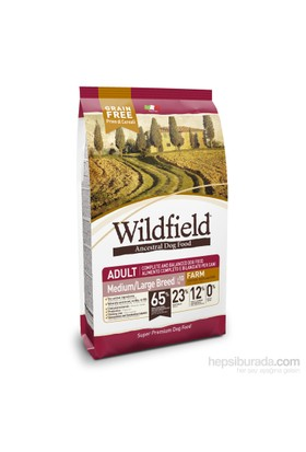 Wildfield Çiftlik Tavuklu,Ördekli Ve Yumurtalı Yetişkin Orta-Büyük Irk Köpek Maması 2 Kg
