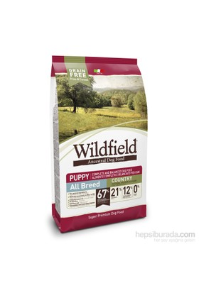 Wildfield Köy Tavuklu,Somonlu Ve Yumurtalı Yavru Irk Köpek Maması 2 Kg