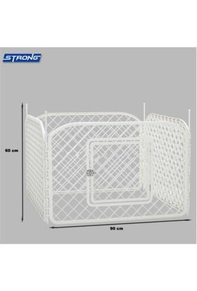 Strong Plastik Köpek Oyun Bahçesi Çiti 4 Panel 90X60cm