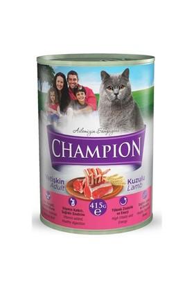 Champion Kuzu Etli Konserve Kedi Maması 415 Gr 24 Adet