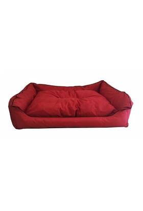 Leos Dış Mekan Büyük Irk Köpek Yatağı No:4 105X75x10cm Kırmızı