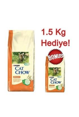 Cat Chow Tavuklu Ve Hindili Yetişkin Kuru Kedi Maması 15 Kg + 1,5 Kg