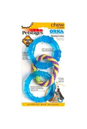 Petstages Orka Triple Link (Patentli Orka Malzemesi, Sağlığa Zararsız, Diş Kaşıyıcı,İpli,Çekiştirmeye Uygun Köpek Oyuncağı)