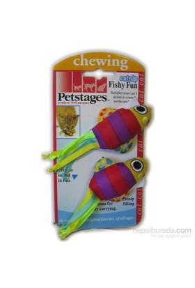 Petstages Fishy Fun (ikili catnipli kedi oyuncağı, diş kaşıyıcı)