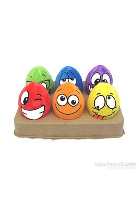 """Egg-Noggins Assortment (Assorted Colors) - 4"""" Ea. Köpek Oyuncağı (Sesli Peluş, Çeşitli Renklerde Ve Çeşitli Yüz İfadelerinde Köpek Oyuncağı)"""