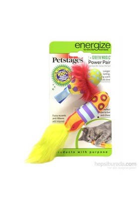Petstages Green Magic Power Pair ( iki adet catnipli, kedi oyuncağı)