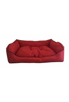 Leos Dış Mekan Orta Ve Büyük Irk Köpek Yatağı No:3 90X70x10cm Kırmızı