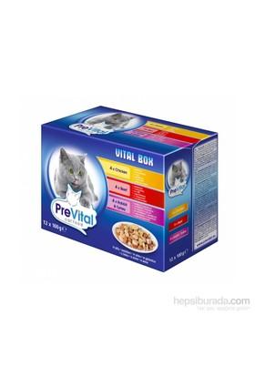 Prevital Multipack 4 Adet Biftek + 4 Adet Tavuk + 4 Adet Tavşan Etli Soslu Pouch 12 X 100 gr