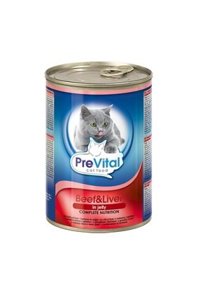 Prevital Biftekli & Ciğerli Kedi Konservesi 415 Gr