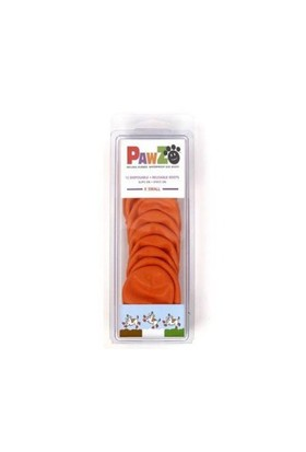 Pawz Köpek Galoşu X Small ( Orange ) 12'Li