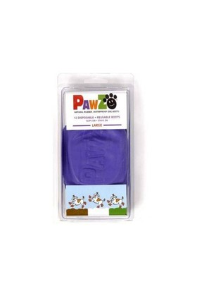Pawz Köpek Galoşu Large ( Purple ) 12'Li