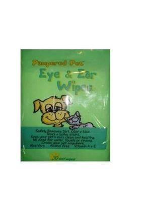 Pampered Pet Kulak Ve Göz Temizleme Mendili - Alkolsüz Ve E Vitaminli - 30Lu