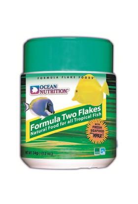 Ocean Nutrition Formula Two Flake - 71 Gr. Deniz Balıkları için Otçul Pul Yem