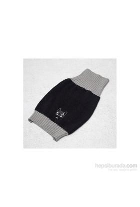 Wuufbox Köpek Kazağı M Siyah-Gri