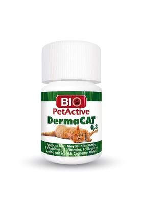 Biopetactive Çiğneme Tableti Dermacat 0,3 (Yucca, Biotin Katkılı Sarımsak Tablet - 75) 22,5Gr