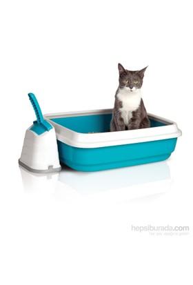 Imac Duo Açık Kedi Tuvalet Kabı + Kürek 59*40*28