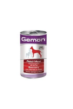 Gemon Yeni Yetişkin Köpek Konservesi Sığır Pirinç 1250 Gr