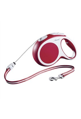 Flexi Vario Cord Kırmızı Köpek Tasması M 8M/20 Kg