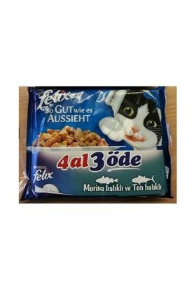 Felix Balıklı Karma Kedi Maması Karma Paket 100gr 4 Al 3Öde