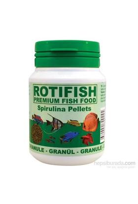 Rotifish Spirulina Pellets 100Ml (45Gr.) Spirulina Katkılı Granül Yem