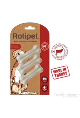 Rotipet 7,5 Cm. Pres Kemik Beyaz (3'Lü Paket)