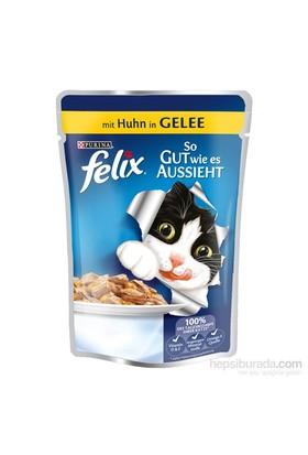 Felix Yetişkin Kediler İçin Tavuklu Yaş Kedi Maması Pouch 100 Gr