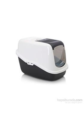 Nestor Kedi Tuvaleti Siyah - Beyaz