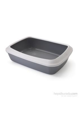 Savic Isis 50 cm + Rim Kedi Tuvalet Kabı - Beyaz-Gri