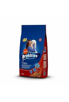 Brekkies Delice Meat Tavuklu Bıldırcınlı Sebzeli Mama 1,5 Kg