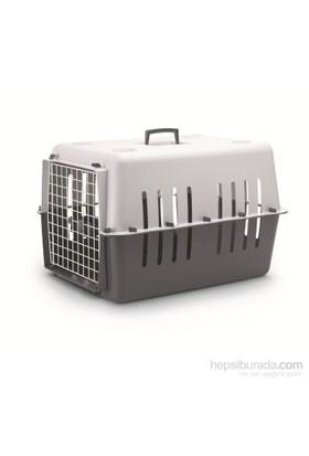 Pet Carrier 4 Kedi Köpek Taşıma Çantası Koyu Gri-Açık Gri FD*