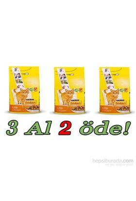 Friskies Tavuklu Ve Sebzeli Yetişkin Kedi Maması 3 Al 2 Öde! 3 X 10 Kg