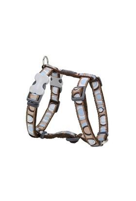 Reddingo Circadelic Desenli Kahverengi Xl Köpek Göğüs Tasması 25 Mm