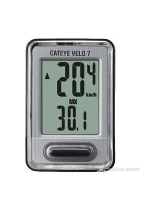 Cateye Km Saati Kablolu Velo 7 Gri Cc-Vl520