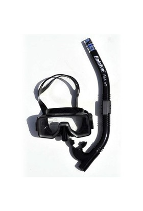 Unidive Silikon Maske/Şnorkel Set combo-3 Siyah