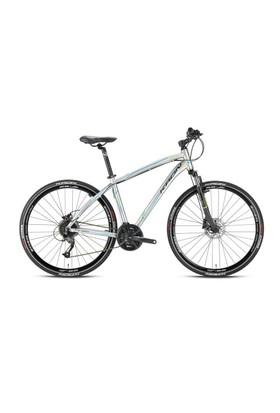 "Kron Tx 450 28 Jant City 18"" 27 Vites Fren Gri - Lime - Mavi Şehir Bisikleti"