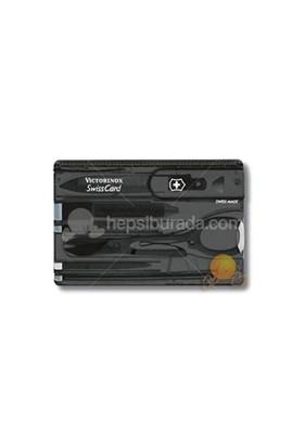 Victorinox Swisscard Şeffaf Siyah 0.7133.T3
