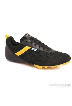 Lig Monaco Çivili Atletizm Ayakkabısı Siyah