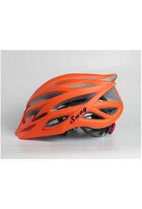 Xbyc H51 Bisiklet Kaskı Işıklı Turuncu