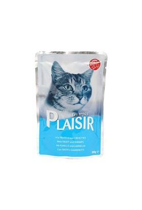 Plaisir Kedi Pouch Alabalık-Karidesli 100 Gr