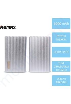 Mobile World Remax 6000 mAh Jazz Platinum Taşınabilir Şarj Cihazı Gri - 2120
