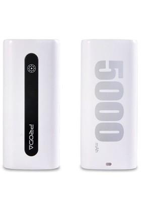 Remax 5000 Mah Powerbank Beyaz Yedek Batarya