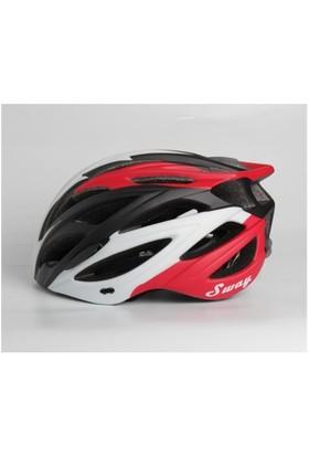 Xbyc S027 Bisiklet Kaskı Kırmızı Siyah