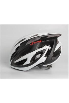 Xbyc V26 Bisiklet Kaskı Beyaz Siyah