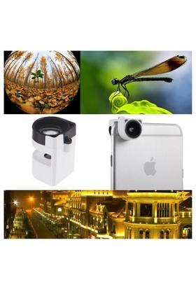 Markacase İphone 6 - 6 Plus 3 İn 1 Balık Gözü-Macro-Geniş Açı Mini Lens